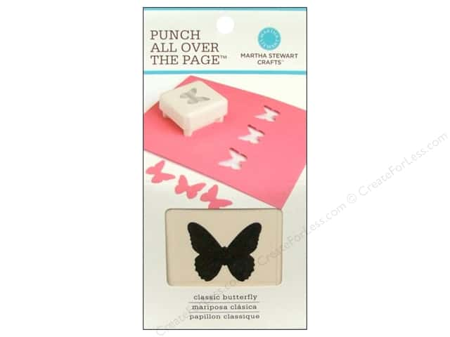 Martha Stewart Punch All Over The Page Classic Butterfly