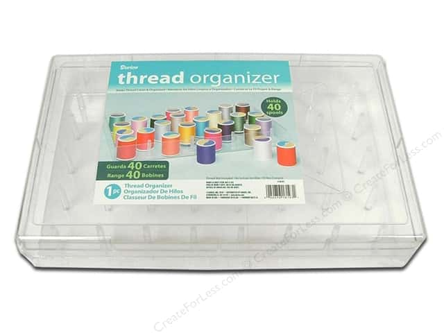 Darice Organizer Thread Holds 40 Spools Clear