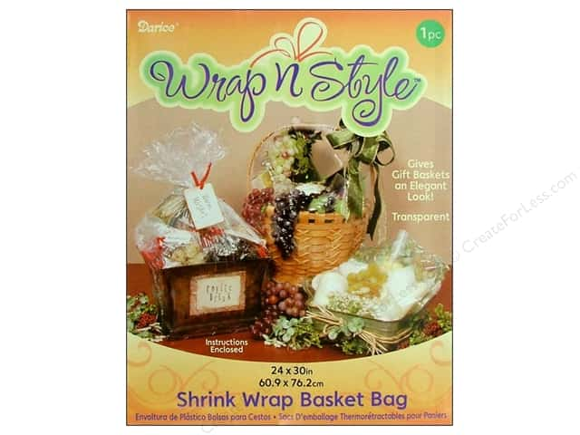 "Darice Shrink Basket Bag 24""x 30"" Clear"