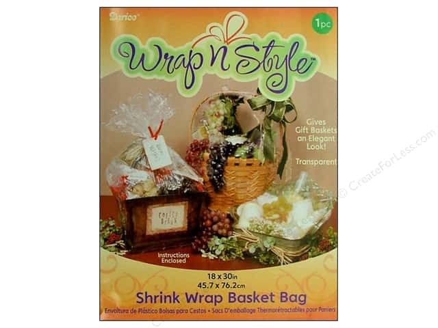 "Darice Shrink Basket Bag 18""x 30"" Clear"