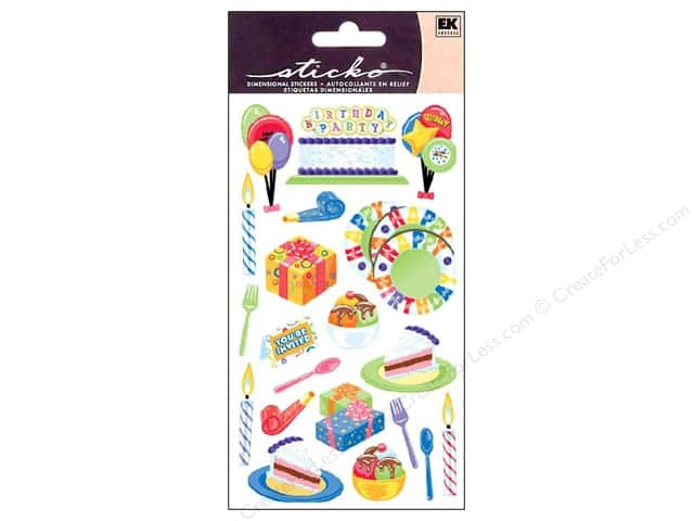 EK Sticko Stickers Birthday Goodies