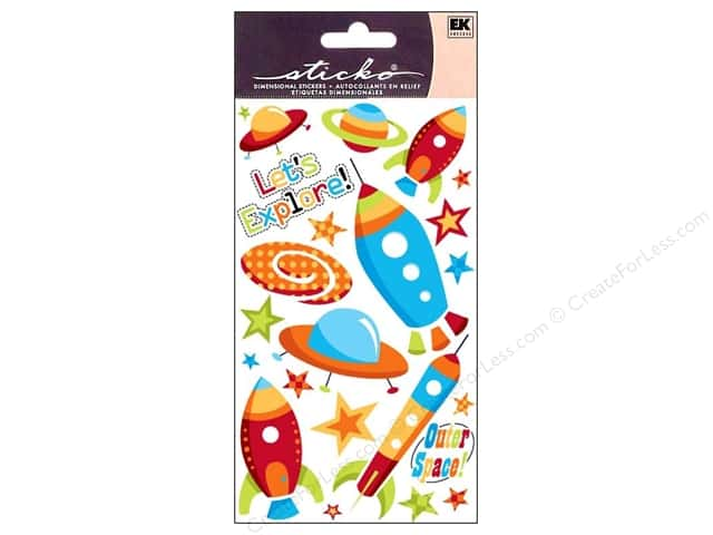 EK Sticko Stickers Space Ships