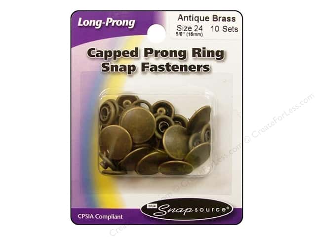 Snapsource Snap Capped Prong Ring Size 24 Antique Brass