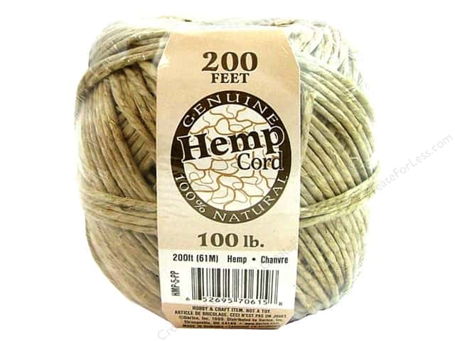 Darice Cord Hemp Ball Natural Waxed 100# 200ft