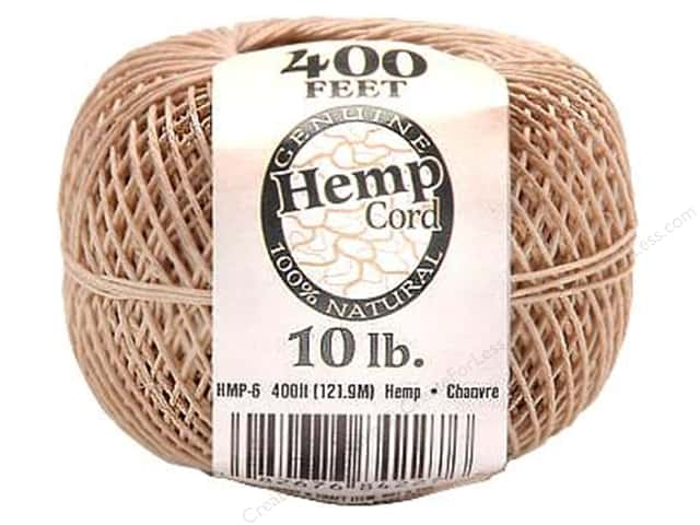 Darice Cord Hemp Ball Natural 10# 400ft