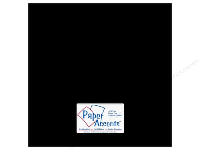 Cardstock 12 x 12 in. #8813 Chalkable Black by Paper Accents (25 sheets)