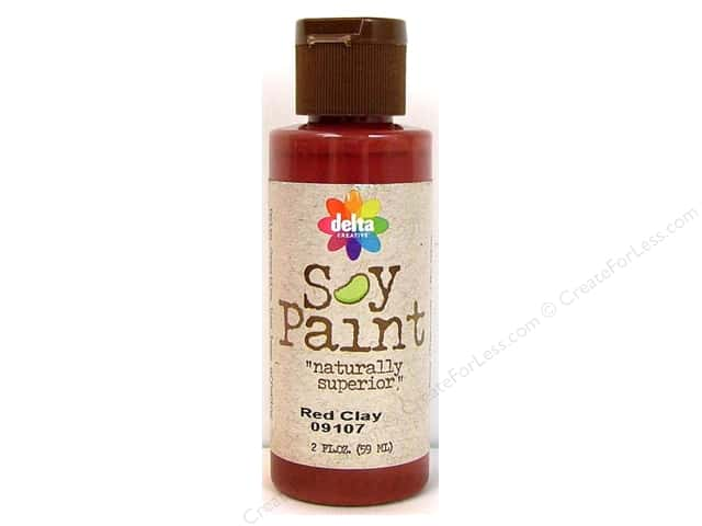 Delta Soy Paint 2oz Red Clay
