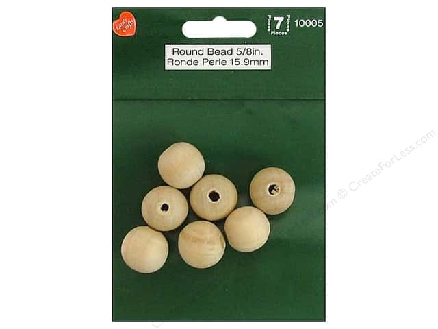 Lara's Wood Round Bead 5/8 in. 7 pc.