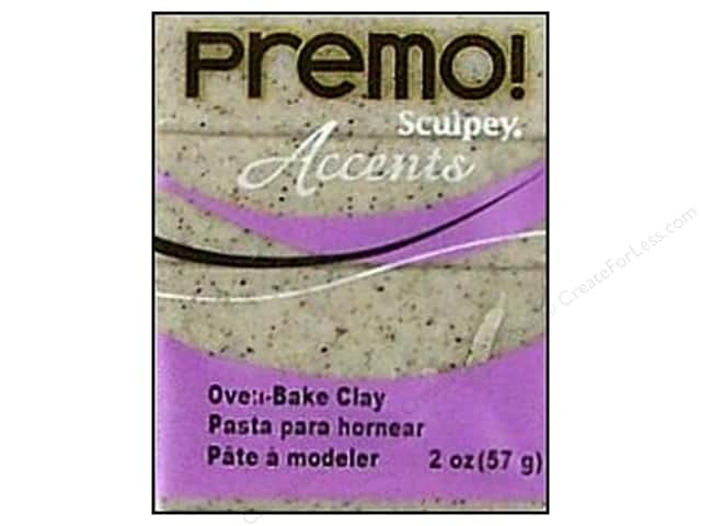 Premo! Sculpey Polymer Clay 2 oz. Gray Granite