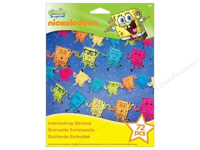 Nickelodeon Kit Interlocking Garland SpongeBob
