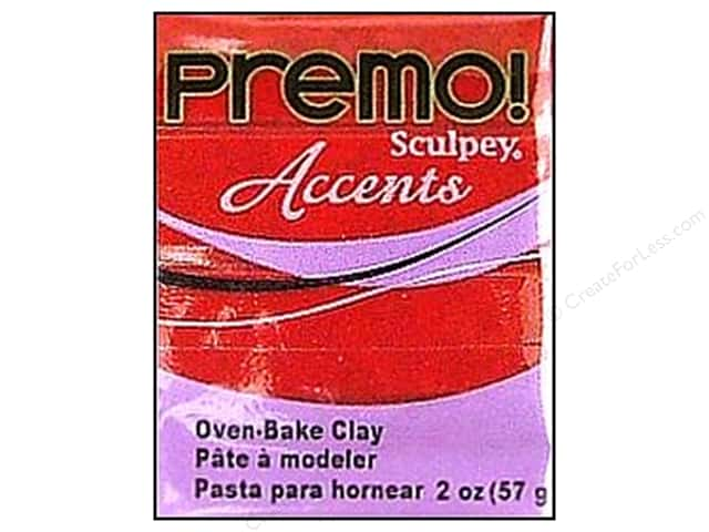 Premo Polymer Clay 2oz Red Glitter