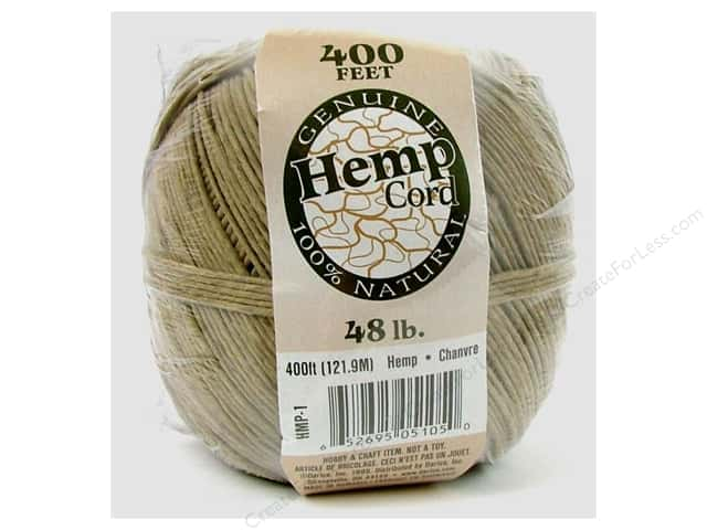 Darice Cord Hemp Ball Natural 48# 400ft