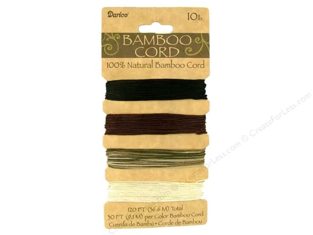 Darice Cord Bamboo .5mm 10lb Earthy 120ft