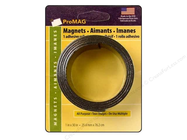 "ProMag Magnet Tape w/Adhesive 1""x 30"""