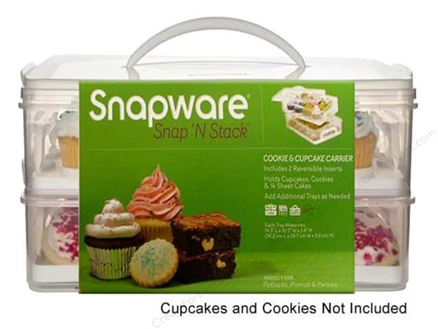 Snapware Snap 'N Stack Cookie & Cupcake Carrier