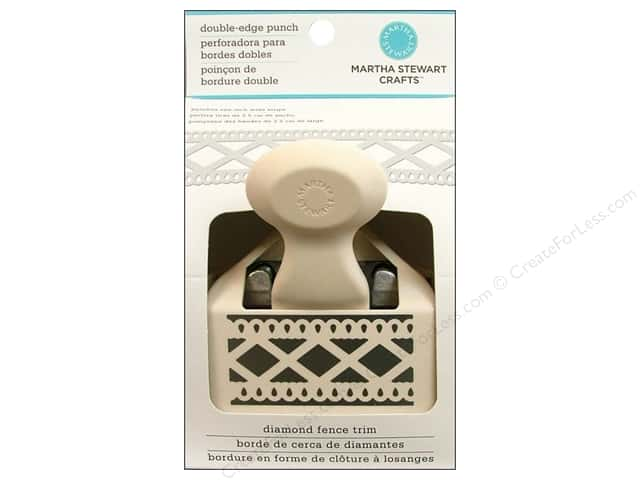 Martha Stewart Deep Double Edger Punch Diamond Fence Trim