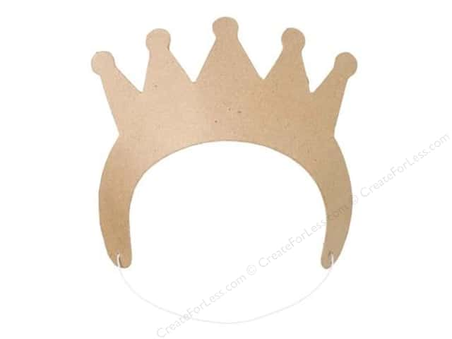 "Darice Paper Mache Crown 8.75""x 4"" Kraft"