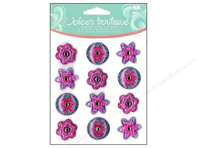 Jolee's Boutique Cabochons Purple Dot Flowers