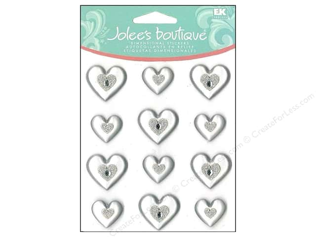 Jolee's Boutique Cabochons Silver Hearts