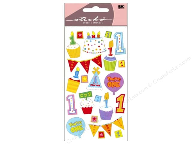 EK Sticko Stickers Baby's First Birthday