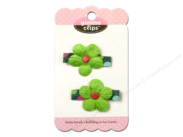 Gimmie Clips Hairclip Petite Petals Bubblegum Ice Cream