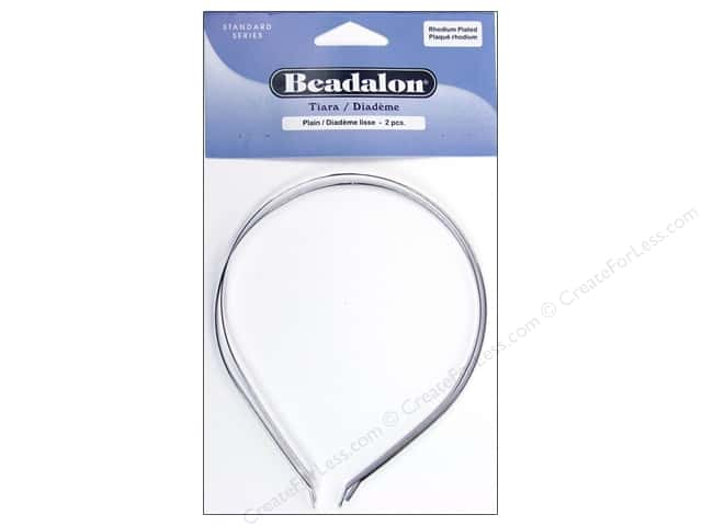 Beadalon Tiara Plain Rhodium Plated 2 pc.