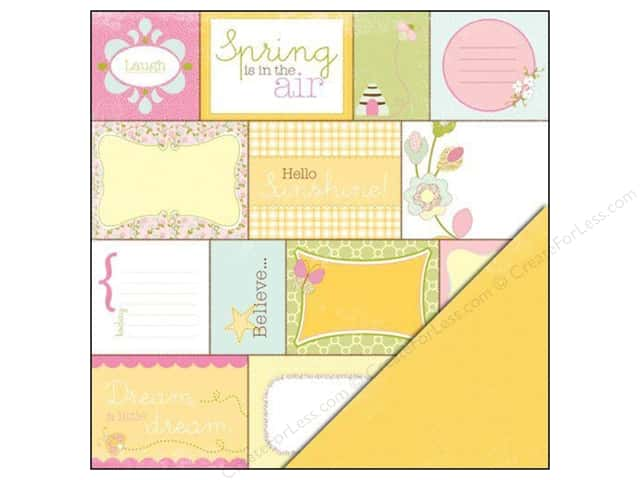 "Making Memories Paper 12""x 12"" Dilly Dally Word Block (25 sheets)"