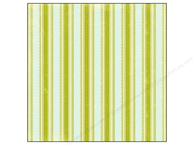 "Making Memories Paper 12""x 12"" Dilly Dally Glitter Scallop Stripe (25 sheets)"