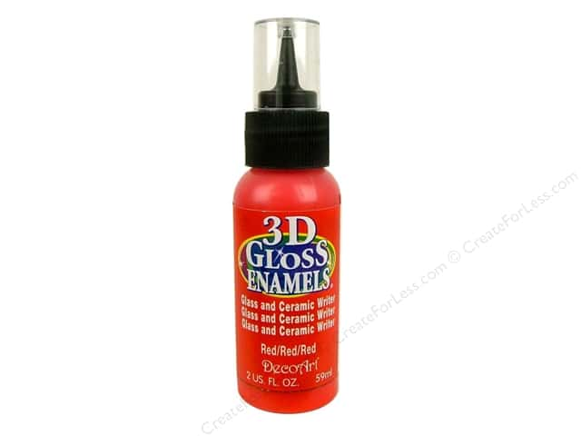 DecoArt Americana Gloss Enamel 3D 2oz Red