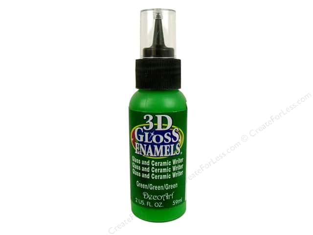 DecoArt Americana Gloss Enamel 3D 2oz Green