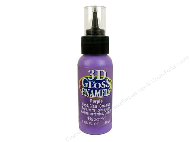 DecoArt Americana 3D Gloss Enamel Paint 2 oz. #08 3D Purple