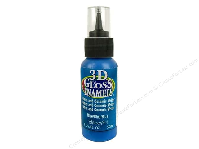 DecoArt Americana 3D Gloss Enamel Paint 2 oz. #05 3D Blue