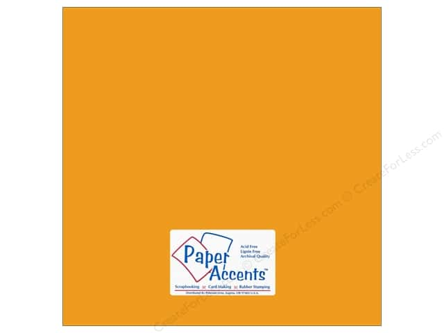 Cardstock 12 x 12 in. #18015 Smooth Yukon Gold by Paper Accents (25 sheets)