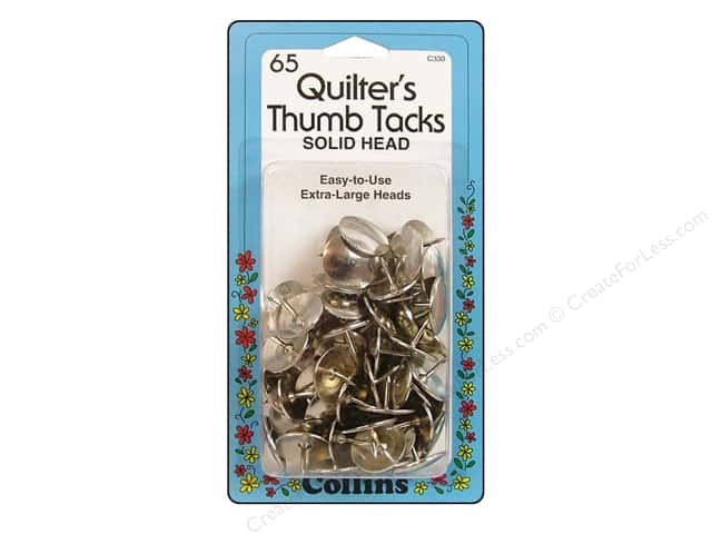 Quilter's Thumb Tacks by Collins 65 pc.