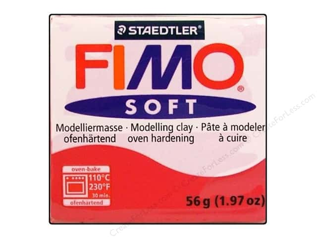 Fimo Soft Clay 56gm Cherry Red