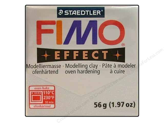 Fimo Soft Clay 56gm Glitter Silver