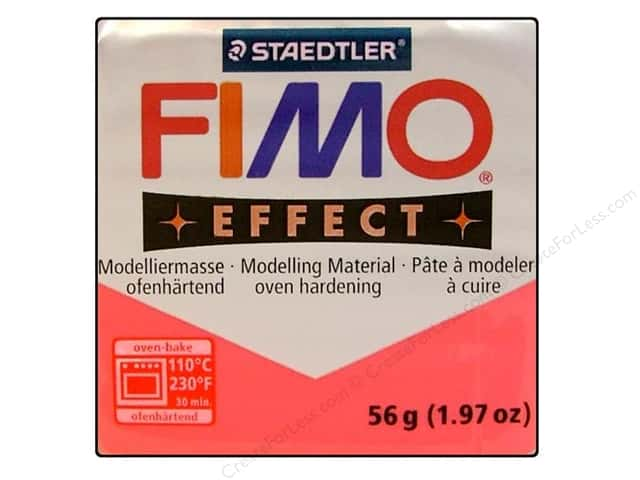 Fimo Soft Clay 2 oz. Transparent Red