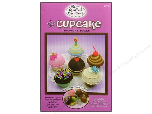 Quilled Creations Quilling Kit Cupcake Treasure Box