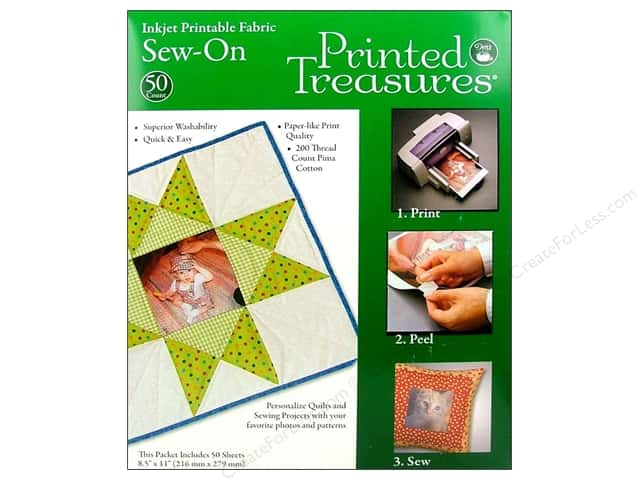 Dritz Printed Treasures Fabric Original Sew On 50pc