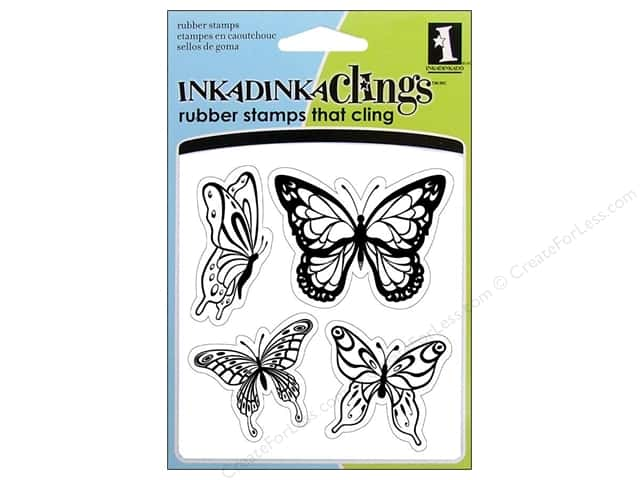 Inkadinkado InkadinkaClings Rubber Stamp Butterflies