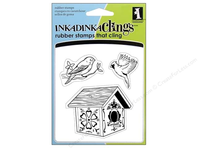 Inkadinkado Stamp Inkadinkaclings Birds House