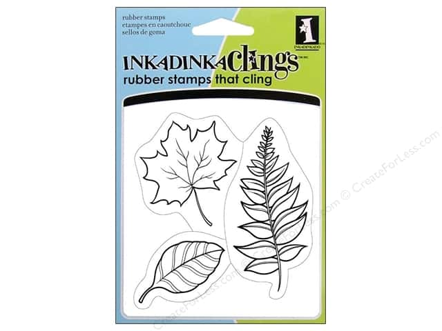 Inkadinkado Stamp Inkadinkaclings Leaves
