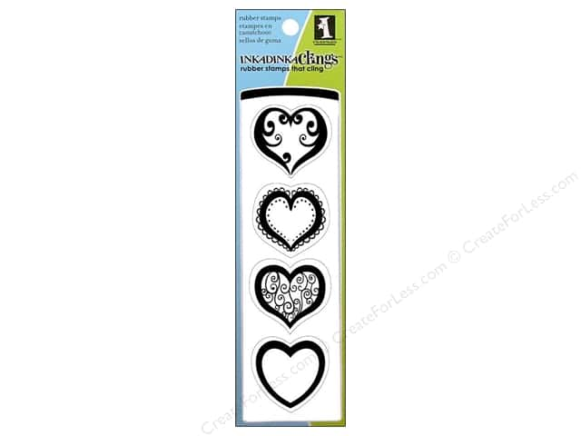 Inkadinkado Stamp Inkadinkaclings Hearts