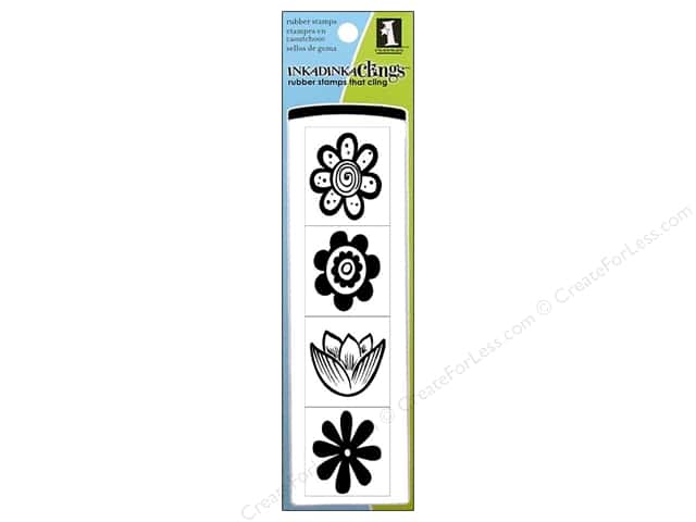 Inkadinkado Stamp Inkadinkaclings Mod Flowers