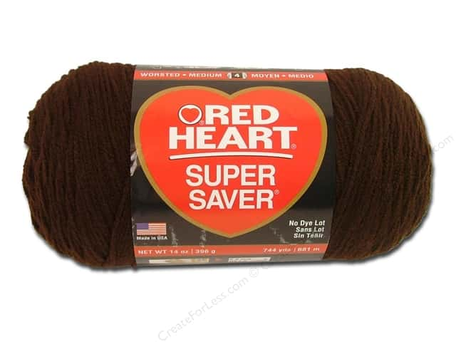 Red Heart Super Saver Jumbo Yarn #365 Coffee 14 oz.