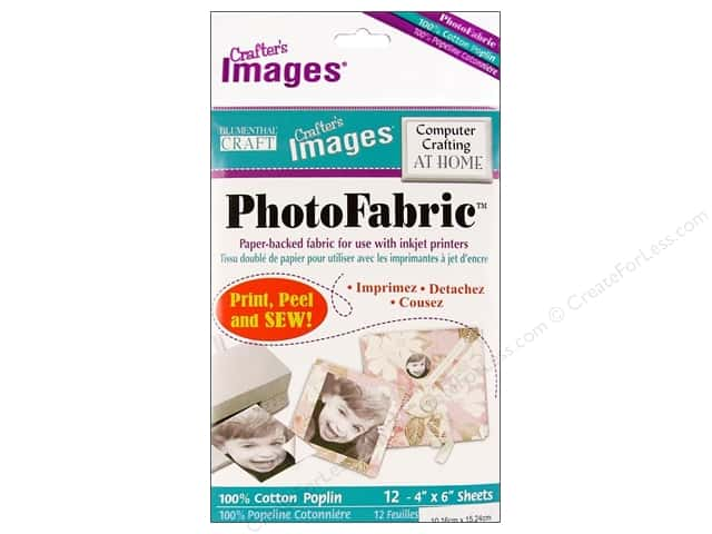 "Blumenthal Crafter's Images PhotoFabric 4""x 6"" Cotton Poplin 12pc"
