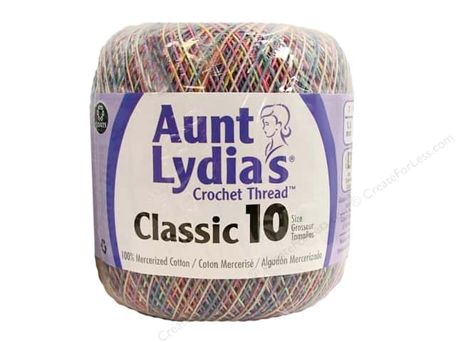 Aunt Lydia's Classic Cotton Crochet Thread Size 10 300 yd. Pastels Ombre