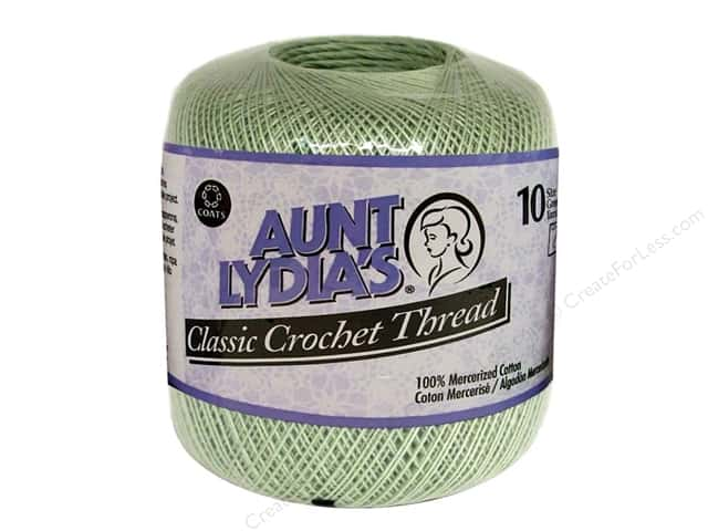 Aunt Lydia's Classic Cotton Crochet Thread Size 10 Frosty Green