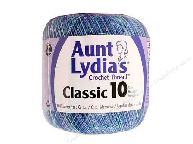 Aunt Lydia's Classic Cotton Crochet Thread Size 10 300 yd. Ocean