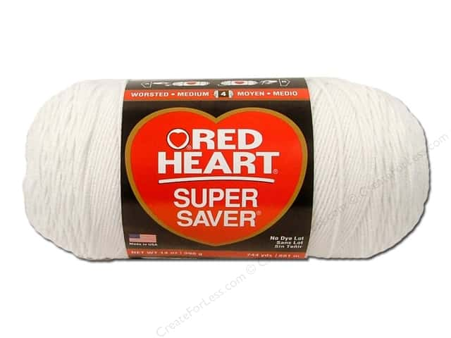 Red Heart Super Saver Jumbo Yarn #311 White 14 oz.